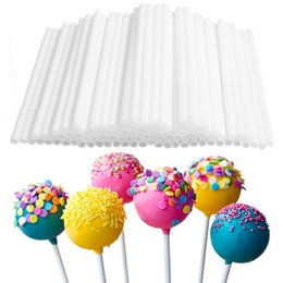 cake pop mold sticks Canada - 80pcs 10cm Safe Plastic Lollipop Stick Cake Pop Food Sticks for Chocolate Sweet Sugar Candy Lollipop DIY Mold Tool Pastry Tools