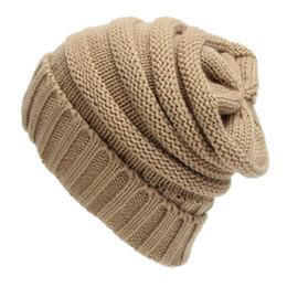 $enCountryForm.capitalKeyWord Australia - 2018 Men Women Casual Knit Oversize Baggy Slouchy Beanie Warm Winter Hat Ski Chic Cap Skull Fashion Autumn Girl Christmas Gift