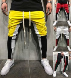 $enCountryForm.capitalKeyWord Australia - Men's Casual Pants 2018 New Fashion Color Contrast Gym Workout Joggers Hip Hop Track Trousers Long Pants M-3XL