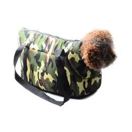 Dog Bags Carriers UK - Out Portable pet dog carrier for dogs travel camouflage pet Carrying Bags For Dogs cats canvas Shoulder Bag Dog Carry Bag