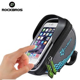 Water Resistant Gps Australia - ROCKBROS Bike Frame Front Tube Bag Cycling Riding Bag Pannier Smartphone GPS Touch Screen Case Bike Bicycle Accessories 4 Colors #79642
