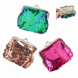 small coin purse for girls NZ - Fashion Mermaid Sequin Coin Purse For Girls Ladies Coin Bag Mini Wallet Small Change Wallet Coin Pouch