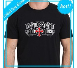 $enCountryForm.capitalKeyWord NZ - 2018 Best T Shirts LYNYRD SKYNYRD God and Guns Legend Logo Men's Black T-Shirt Size S-XXL Short Sleeve Crew Neck Fashion