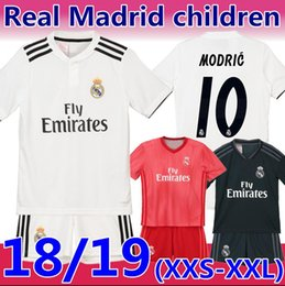 soccer jersey pink 2019 - 18 19 season MODRIC real Madrid kids Soccer  Jersey Thailand quality e4b855881