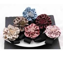 $enCountryForm.capitalKeyWord NZ - Fashion brooch Women's Pin Handmade Vintage Fabric silk Camellia Brooches Jewelry Badge Rose Flowers Big Elegant Brooch Pins hair Decoration