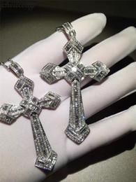 $enCountryForm.capitalKeyWord Australia - Choucong Fashion Big Cross Pendants 5a Zircon Cz 925 Sterling Silver Wedding Pendant With Necklaces For Women Men Party Jewelry J190616
