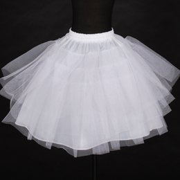petticoats underskirts Australia - Girls White Boneless Petticoat Kids Wedding Petticoats Three Layers Hard Tulle Mini Underskirts Girl Tutu Skirt For 5-12 year