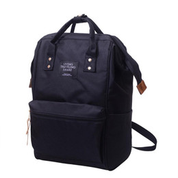 Double Saddle Australia - Unisex Solid Backpack School Travel Bag Double Shoulder Bag Zipper Bag Backpack Female All For School A0430#30 Y19061204