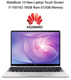 16gb ram laptop i7 2020 - 2020 High-end Laptop HUAWEI MateBook 13 New With i7-10510U Max 4.9GHz 16GB Ram 512GB SSD 2K Touch Screen NVIDIA MX250 Gr
