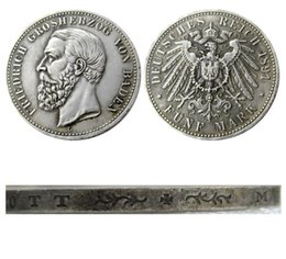 $enCountryForm.capitalKeyWord Australia - 1891 Germany 5 Mark States Baden - Friedrich I Copy Coins Free Shipping
