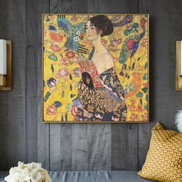 Wholesale adele for sale - Group buy Gustav Klimt Paintings On The Wall Portrait Of Adele Bloch Golden Wall Art Canvas Large Pictures For Living Room