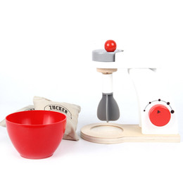 play toys kitchen set gift UK - New 1 Set Wooden Toy Pretend Play Kitchen Polishing Cooking Machine Girls Boy Mini Pretend Toy Juicer Housekeeping Gift D79