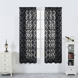 $enCountryForm.capitalKeyWord NZ - Feiqiong New Design Geometry Striped Window Curtains For Sitting Room Balcony Sheer Valance High Quality 2019 Tulle Curtain Hot