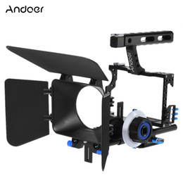 $enCountryForm.capitalKeyWord NZ - Andoer Camera Camcorder Video Cage Rig Kit Aluminum Alloy Film Making System with 15mm Rod Matte Box Follow Focus Handle Grip