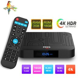 Best Android Tv Boxes Australia - Best selling M9S W1 android 7.1tv box Quad Core 2GB 16GB Amlogic S905W Streaming Media Player Smart tv HD 4K WiFi Set Top Box Better HK1 Max