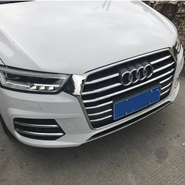$enCountryForm.capitalKeyWord NZ - Chrome ABS Front Bumper Air Grille Grill Decoration Cover Trim For Audi Q3 2016-2018 Car Front Fog Lamp Strips