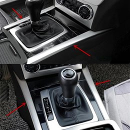 7db63e29fbf2 Car Central Gear Shift Panel Decorative Cover Trim Stainless Steel Strips  For Mercedes Benz C class W204 Car Styling
