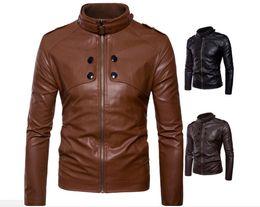 $enCountryForm.capitalKeyWord Australia - Europe and the United States new trend fashion men's stand collar motorcycle leather Slim men's leather jacket jacket men's clothing