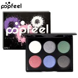 $enCountryForm.capitalKeyWord NZ - 6 Color Shimmer Matte Eyeshadow Palette Waterproof Long Lasting Warm Pink Purple Green Natural Fashion Best Price Eye Shadow Powder Tray