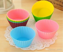 Cupcake Muffins Cake Australia - Wholesale Silicone Cupcake Liners Mold Muffin Cases Round Shape Cup Cake Tools Bakeware Baking Pastry Tools Cake Mold New