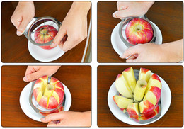 slicer easy cutter Australia - New Stainless Steel Fruit Apple Pear Easy Cut Slicer Cutter Divider Peeler Fruits And Vegetables Useful Life Tools