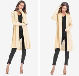 Solid Cotton Shawl Australia - Nice Women Clothes Women Thin Section Openwork Sweater Coat Solid Color Drape Cardigan Shawl Jacket 5 Color EUR Size M-XL