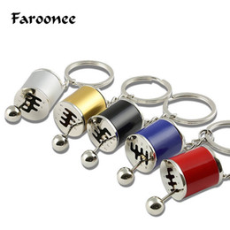 modified car auto 2019 - Car Auto Gear Shift Keychains Fans Key Rings Gear Shifter Stick Key Chain Cylinder Modified Turbo Wave Style Motor Holde