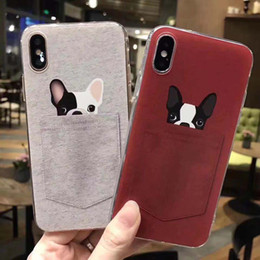 $enCountryForm.capitalKeyWord Australia - Hot Sale Cute Cartoon Pocket Dog and Cat Shockproof Silicone Rubber Soft TPU Embossed Phone Case Cover For iPhone 5 6S 7 8 Plus X XS MAX XR