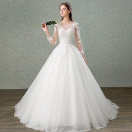 $enCountryForm.capitalKeyWord NZ - Beautiful 2019 New Ball Gown Princess Wedding Dresses Lace Appliques Sequined Bridal Gowns the Back Lace up