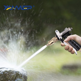 Shower waSh online shopping - Car Wash Water Gun High Pressure Water Flow Cleaning Tyre Pressure Washer Copper Handle Shower Spray Column Xammep
