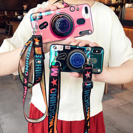 Cute Cases for samsung online shopping - 3D Retro Camera Phone Case For iPhone Pro Max X Xs Max XR Cute Toy Soft Silicone Case For iPhone Plus S With Lanyard