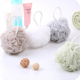 Cleaning Towels Australia - Bath Ball Mesh Exfoliating Shower Pouf Bath Ball Towels Body Cleaner Bathing Shower Sponge Bathroom Accessories