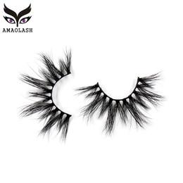 4b67950a142 AMAOLASH Mink Lashes 25mm Eyelashes Criss-cross Strands Cruelty Free Volume  Mink Eyelashes Soft Dramatic Eye lashes Makeup G03
