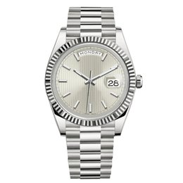 Date female online shopping - New Men Fashion Watches Women Rose Gold Silver Stainless Steel Wristwatch President Automatic Designer Watches President Mechanical Female