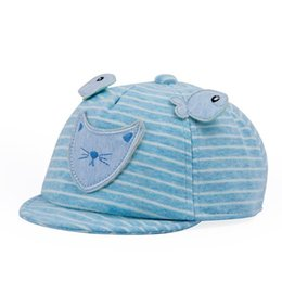 christmas visor Canada - Children's Hat Ball Cap Spring and Autumn Cotton Baby Baseball Cap Cute Cotton 1-4 Year Old Sun Hat Visor