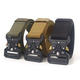 Black Wide Girls Belt Australia - 125*4.3 cm Men Belt Mens Designer Wide Belts Ceinture 3 Color Tactical Automatic Nylon Buckle Zinc Alloy Outdoor Sports Active Waist Strap