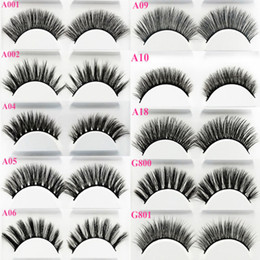 $enCountryForm.capitalKeyWord Australia - Hot Sales Mink hair False Eyelashes (5 pairs) Natural or Thick Fake EyeLash Full Strip Handmade Eyelash Extension Mascara Free shipping