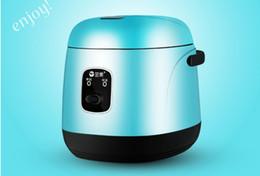 Großhandel 1.2L Mini elektrischer Reiskocher 220 V Haushaltsstudentenwohnheim Kochen tragbaren Kochtopf für Business-Reisenden Arbeitsalleinstehenden 020
