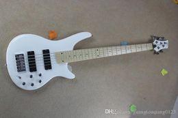 $enCountryForm.capitalKeyWord Australia - new brand Banjo classic white sandwich active pickups neck electric bass guitar xiexie