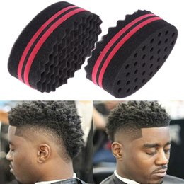 $enCountryForm.capitalKeyWord NZ - Double Sided Magic Hair Brush Sponge Wave Dreads Locking Curl Coil Afro Barber Tool Hair Styling Tool Black for Men