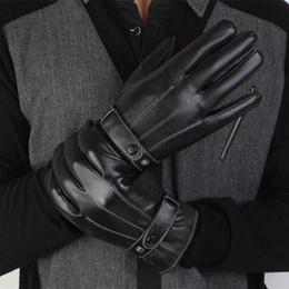 Black Leather Bike Gloves Australia - Winter Gloves motorcycle bike Leather Gloves men women Waterproof Warm Motocross Motorbike Tactical Cycling
