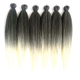 pack braiding hair Canada - Synthetic Hair Extensions Easy Braid Professional Itch Synthetic Fiber Corchet Braids Hair Products Extensions Braid Hair 6 packs