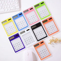 Free calculator online shopping - Transparent Calculator Student Stationery Mini Handheld Card Calculator Solar Power Transparent Screen Calculator A03