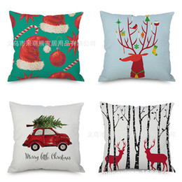 nonwoven hats Australia - Christmas Milu Flax Pillow And Christmas Hat Car Automobile Sofa Back Cushion Cushion Bedside Backrest Home Furnishing Pillow Factory