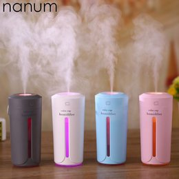 mini portable air humidifier ultrasonic 2019 - Ultrasonic Office Color Car Portable Travel USB Mini Humidifier Air Diffuser Purifier Atomizer Small Air Conditioning Ap