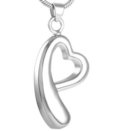 $enCountryForm.capitalKeyWord Australia - IJD8522 lovely heart Stainless steel memorial ash keepsake cremation jewelry,Pet(dog cat)unisex cremation urn pendant