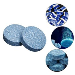 Water Tablets UK - 10pcs set Condensed Effervescent Tablet Wiper Water Solid Wiper Concentrated Super Auto Glass Conventional Cleaner