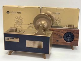 Sound Boxes Wholesale Australia - NEW AS70 Vintage Retro Phonograph Shape Wireless Bluetooth Speaker Stereo Music Player Sound Box Support TF Card Audio Input