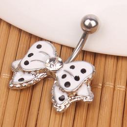 $enCountryForm.capitalKeyWord Australia - D0027-1s ( 2 colors ) nice bowknot style 002-01 Belly Button Navel Rings Dangle Accessories Fashion Charm Rabbit CZ 10Pcs Lot