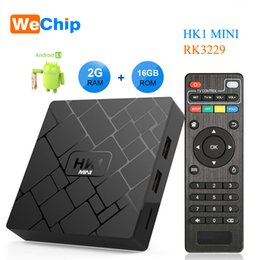 Mini Player 16gb Australia - Wechip Android 8.1 Smart TV BOX HK1 mini 2GB 16GB Rockchip RK3229 Quad core 2.4G WIFI Media Player H.265 HEVC 4K 3D Set Top Box
